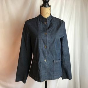 Eileen Fisher 2Pc Denim Jacket and Wide Leg Jeans